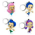 4pcs/set Bubble Guppies Cartoon Figure Key Chain PVC Key Ring Key Holder Pendant