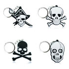 4pcs/set Skull Cartoon Figure Key Chain PVC Key Ring Key Holder Pendant Kids Toy