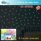 100PCS Glow In The Dark Stars DIY Decal Wall Stickers Baby Room Bedroom