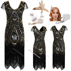 1920s 1930s Dress Flapper Vintage Gatsby Party Charleston Ladies Outfit Costume