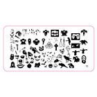 10 Patterns Halloween Chirstmas Nail Art Design Stamping Image Template Tool kit
