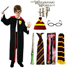 Boy Wizard Magic Costume Cloak Cape New HP Inspired Robe Fancy Dress UK Age 4-12