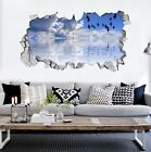 3D Blue Sky River 9 Wall Murals Stickers Decal breakthrough AJ WALLPAPER AU Kyra