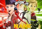 MIRACULOUS ladybug and cat noir PERSONALISED PLACE MAT DINNER MAT TABLE MAT
