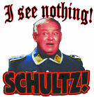 Hogans Heroes  Sargent Schultz I See Nothing2,  t-shirt