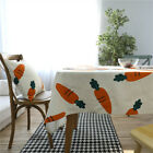 100% Cotton Table Cloth Pastoral Carrot Tablecloth Tea Table Cover Home Textile