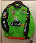 GO DADDY NASCAR Racing Jacket Mark Martin #5 Cotton by CHASE AUTH Hand Tag missi