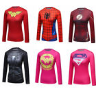 Ladies Marvel Superhero Graphic Tops Compression T-shirts Long Sleeve Cosplay