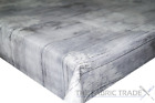 Wooden Damask Grey White PVC Tablecloth Vinyl Oilcloth Kitchen Dining Table