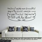"""""""The Best and the most Beautiful"""" Inspiring Quote wall art Decals Vinyl Stickers"""