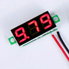 Mini LED DC 2.4-30V Panel Voltmeter Digital Voltage 2 Wire Meter Gauge Car Motor