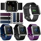 Fitbit Blaze Silicone Rubber Sport Watch Band Strap Replace Watchband