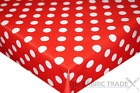 Red Polka Dot PVC Tablecloth Vinyl Oilcloth Kitchen Dining Table