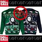 GAME OF THRONES New Season Jon LET IT SNOW Ladies & Mens Xmas Jumper TOP UK 8-30