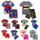 Kid Boys Girl Pyjamas Pjs Cartoon Short Sleeve T-Shirt + Shorts Outfit Sleepwear