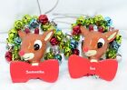 Rudolph The Red Nosed Reindeer Personalized Ornaments Names G - N