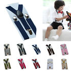 Boys Girls Baby Toddler Children Clip-on Elastic Braces Suspenders 1-10Years