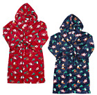 Kids UNISEX Christmas Super Soft Fleece Dressing Gown Ages 2-13 Years NEW