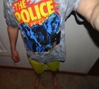 NEW The Police Sting Rock Group T Shirt Short Sleeve Gray L XL