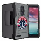 Dual-Layer Hard Shell Kickstand Case [For ZTE Phone Models ] ALL NBA TEAMS <br/> Heavy Duty Holster Belt Clip for ZTE Phone Models Cover