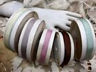 """Внешний вид - VINTAGE RARE 1/4"""" FRENCH RIBBON RAYON 1yd with wire Made in France"""