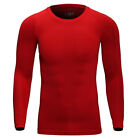 Men's Long Sleeve Thermal Underwear Johns Winter Warm Basic Crew Tops Shirt USA