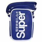 New Mens Superdry Blue Festival Pu Cross Body Bag Bags