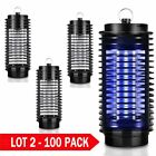 LOT 2~100 110V Electric Mosquito Fly Bug Insect Zapper Killer With Trap Lamp B2