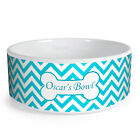 Personalised Zig Zag Pattern Custom Design Dog Bowl Cat Pet Food Dinner Dish