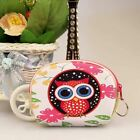 Girls Ladies Cute Owl Coin Purse Key Ring Faux Leather Money Wallet Xmas Gift