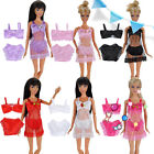 1 Set Handmade Sexy Pajamas Lingerie Bra Underwear Lace Clothes For Barbie Doll