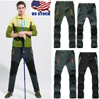 camping pants men - USA Men's Outdoor Soft shell Camping Tactical Cargo Pants Combat Hiking Trousers