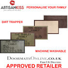 Personalised Family Dirt Trapper 40 x 70cm Washable Absorber Door Mat 4 COLOURS