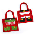 X2 Christmas Gift Bag Candy Case Merry Xmas Candy Bags Santa Claus Kid Red Decor