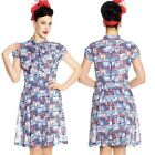 Hell Bunny Kullen Lighthouse 50s 40s Dress Pin Up Rockabilly Swing Retro Vintage
