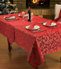 Christmas Red Printed Heather Festive  Tablecloth / Napkins / Runner / Placemat
