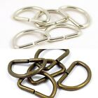 30mm 1 1/4 in. Brass or Chrome :: Heavy :: Metal D-Ring for Straps Bag Making