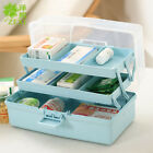 Portable 3 Layer Pill Boxs Medicine Tablet Holder Organizer Travel Cases Home HX