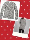 Abercrombie&Fitch Sz S,M Adin Sweater Marled Knit Crew Neck Top Black New