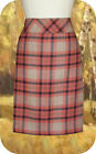 L.L. Bean Andover Plaid Skirt 14R 18R 18P Cranberry Pink Lined Wool Knee Length