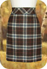 L.L. Bean Andover Plaid Skirt 18P 20P 14R Brown Heather Wool Knee Length