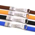 Silicone Rubber Watch Strap Band Deployment Buckle Waterproof 20mm Men Gift
