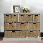 Large chest of 8/10 Drawers Maize Basket Storage Baskets Cabinet Sideboard UK