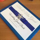 PERSONALISED WINTER SNOWFLAKE GLITTER WEDDING GUEST BOOK - Many Colours