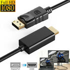 hdtv display - 6FT Display Port DP Male to HDMI Male Cable Cord Adapter Converter for PC HDTV