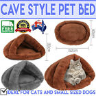 Small Soft Puppy Kitten Pet House Igloo Cave Dog  Cat Bed Pad