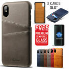 Apple iPhone X 8/7 7/8 Plus Wallet Case Leather Slim Layered Card Slot Cover