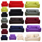 1 2 3 4 Seater Soft Heavyweight Microsuede Cover Slipcover Sofa Couch Cover US