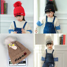 Fashion Children Hat Girl Embroidery Roses Wool Beanie Baby Winter Warm Knit Hat