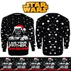 Unisex Ladies Men Knitted Xmas STAR WARS Vintage DARTH VADER Novelty Jumper S-XL